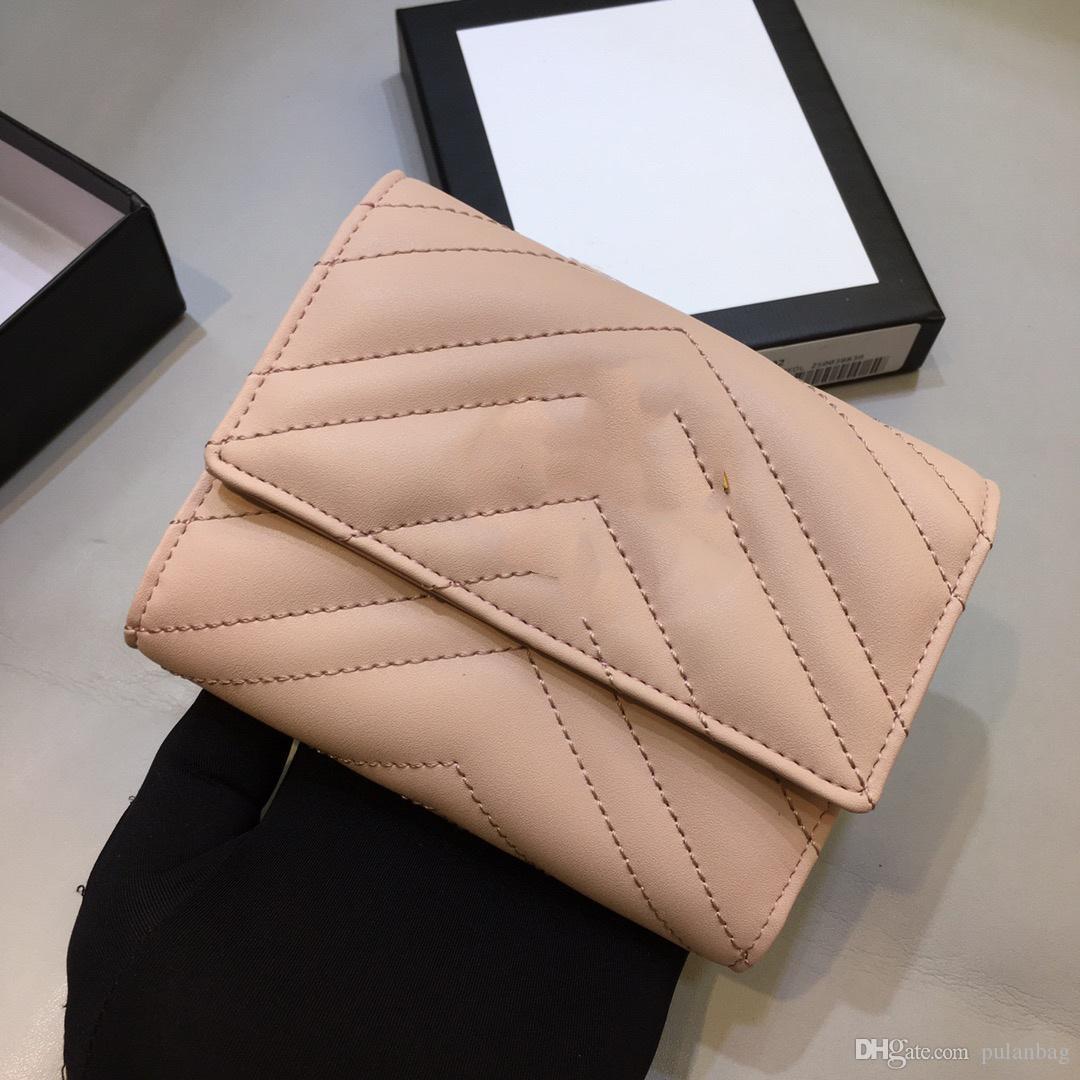desenhador Mulher Wallet longo cartão de crédito titular carteira de alta qualidade real carteira de couro vezes embreagem bolsa couro Carta Coin Purse 13 centímetros