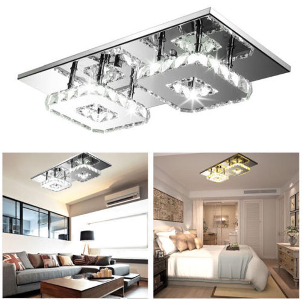 ضوء السقف LED 24W كريستال ساحة السقف مصباح للبار غرفة معيشة LED رقاقة الضوء