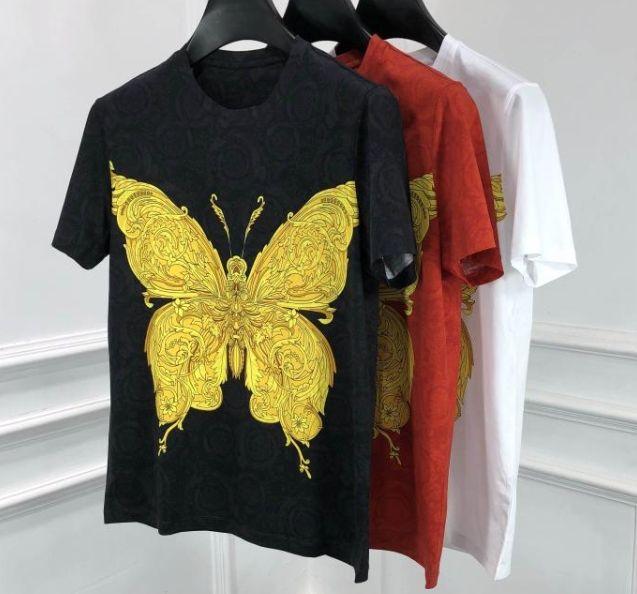 2020 molla di nuovo arrivo 20ss farfalla stampa floreale famosa del cotone dei vestiti T magliette di marca per gli uomini