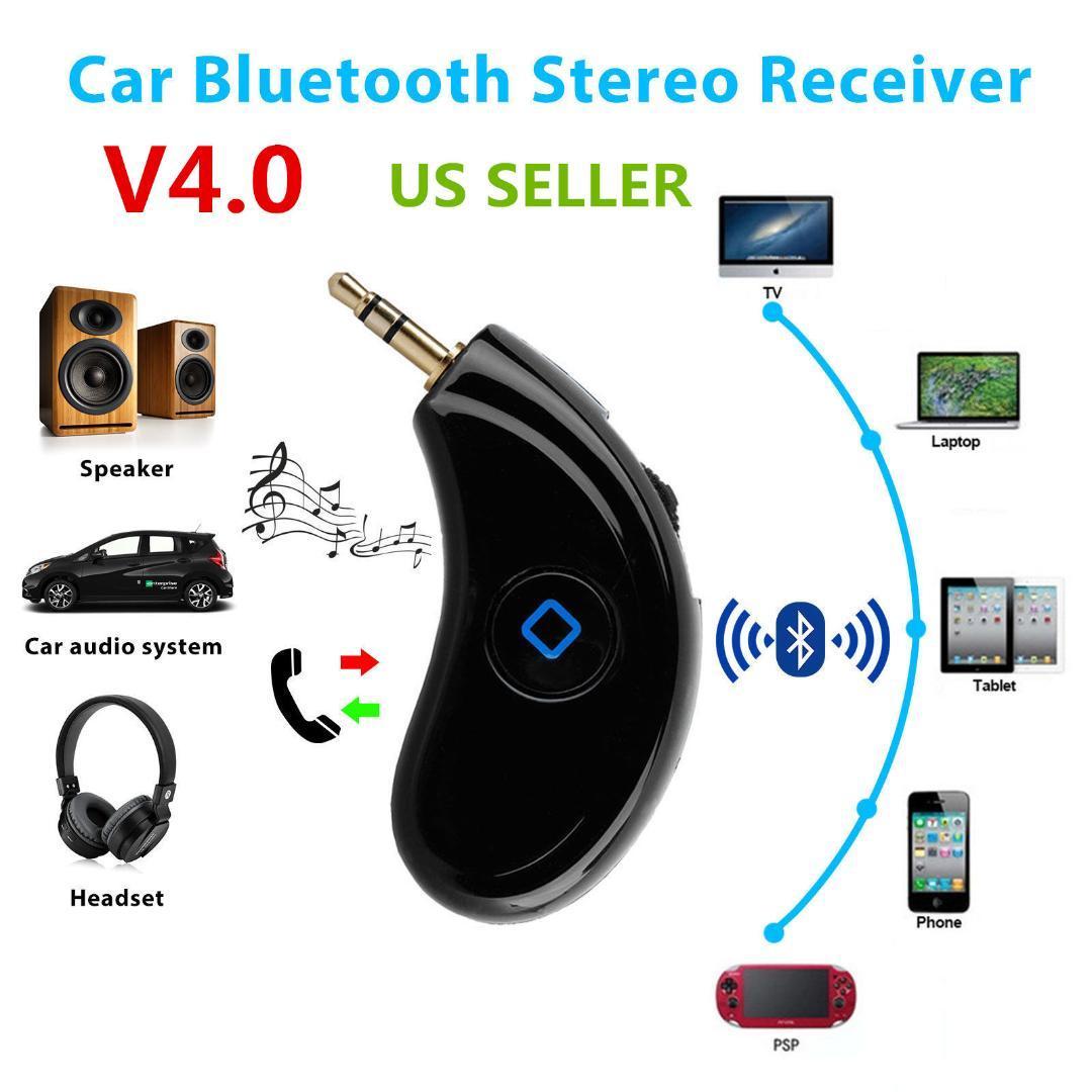 3,5 millimetri Bluetooth 4.0 Wireless Receiver altoparlante stereo di musica in streaming auto ricevitore audio Alimentatore da auto Speaker Adapter Aux (nero)
