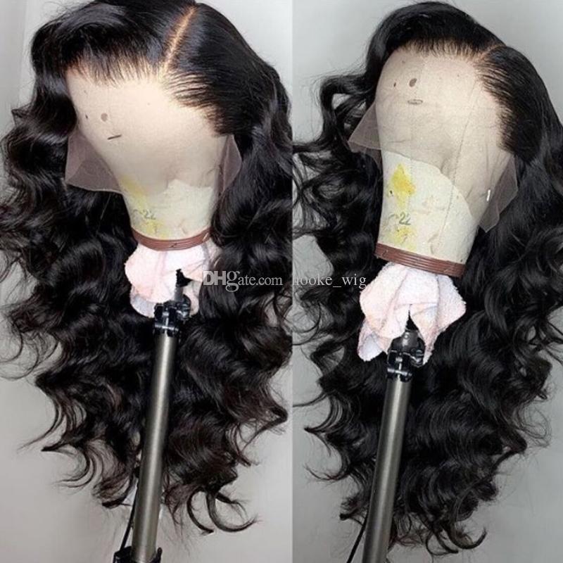 Glueless Lace Front Cheveux perruques pour les femmes noires Hairline naturel du Pérou en vrac vague pleine dentelle perruques 150% Densité