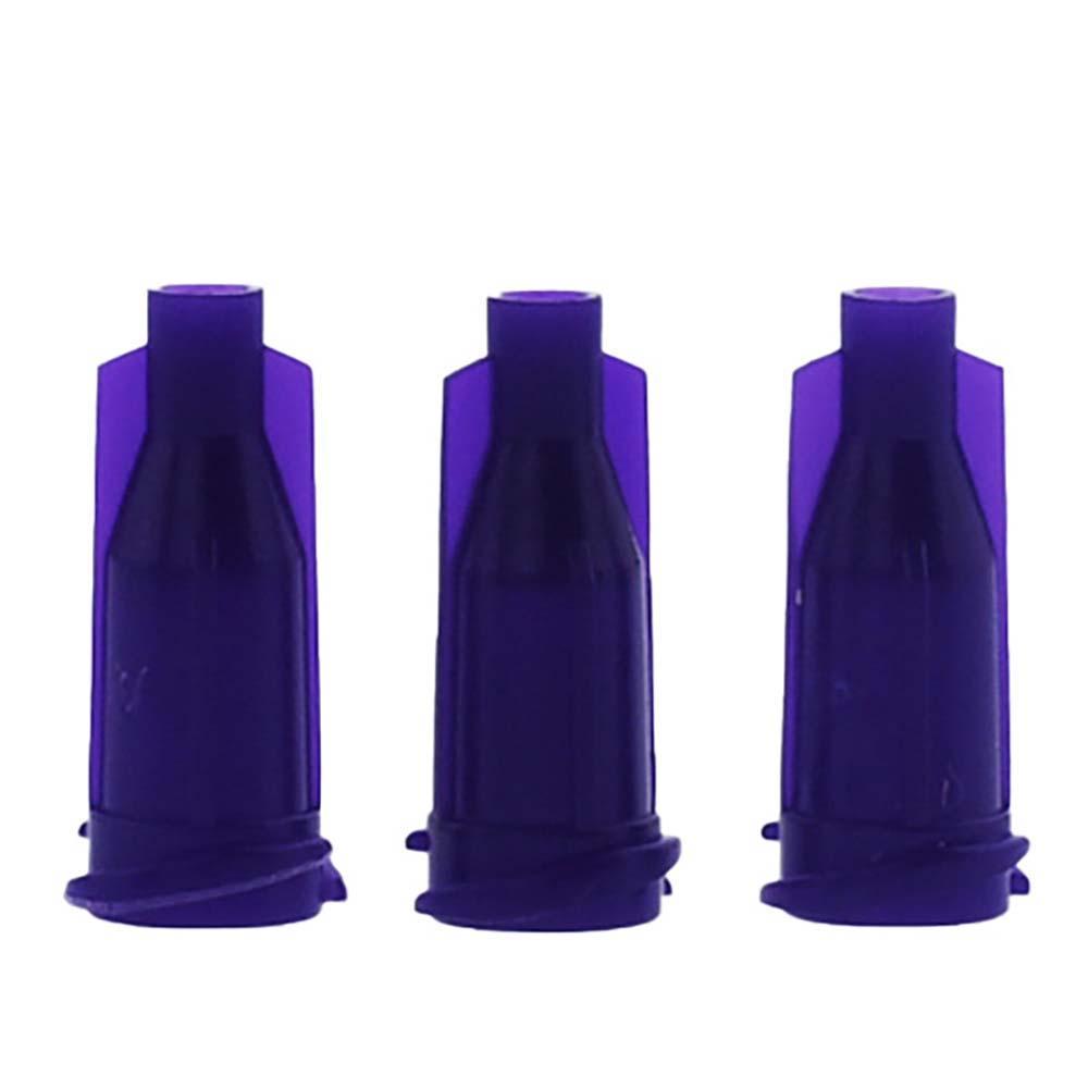 Glue dispensing syringe tip purple cap Luer Lock 1000 PCS/lot