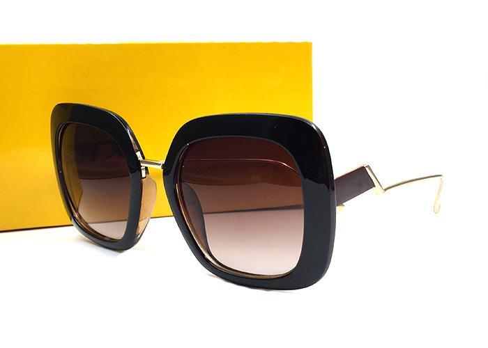 las mujeres de moda las gafas de sol para mujeres hombres gradiente marco cuadrado Gorras de beisbol Gafas de sol Gafas de verter Hommes