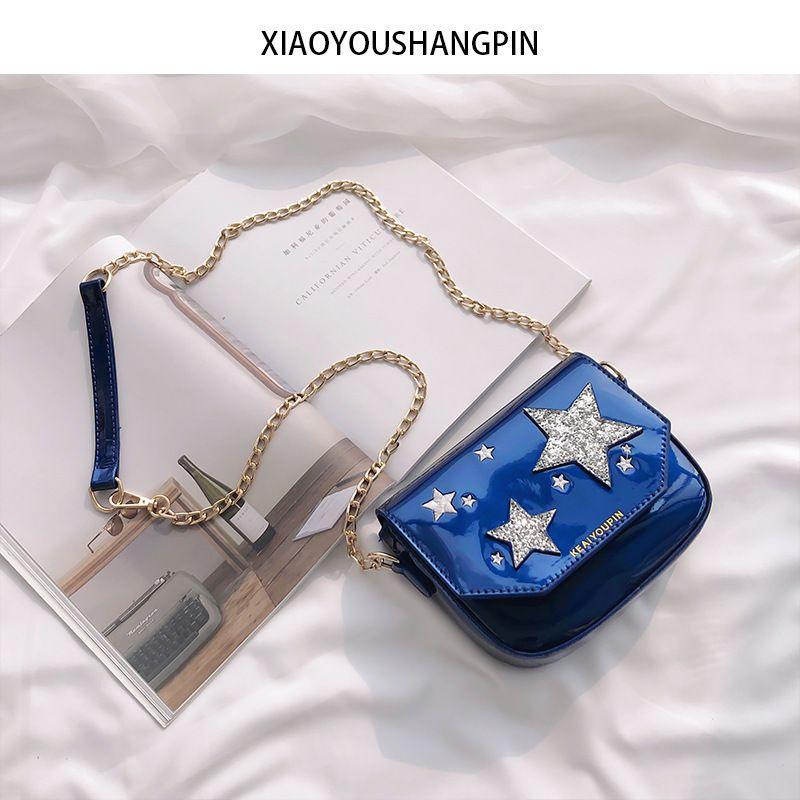 Womail Women Star Small Shoulder Bag Satchel Cross Body For Girl Light Blue