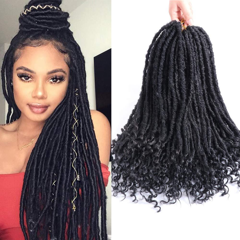2020 Faux Locs Crochet Braids 18inch Soft Natural Kanekalon Synthetic Hair Extension 24 Stands Pack Goddess Faux Locks Hair For Women From Zyhbeautyhair 6 64 Dhgate Com