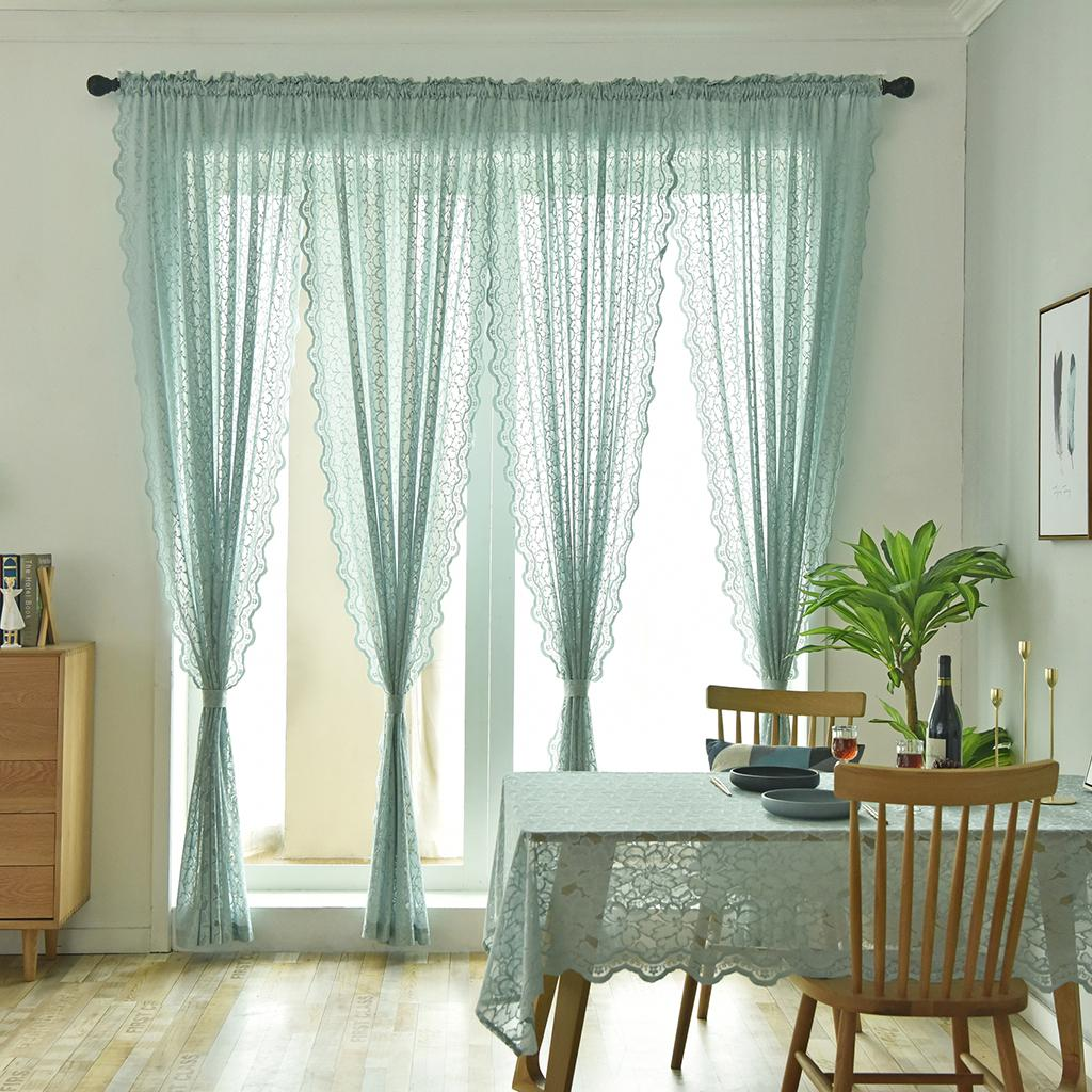 2021 Home Fashions Jacqueline Habitat Tailored Lace Curtain Panel Lace Sheer Curtains Grommet Drapes For Bedroom Living Room Windows From Gralara 19 63 Dhgate Com