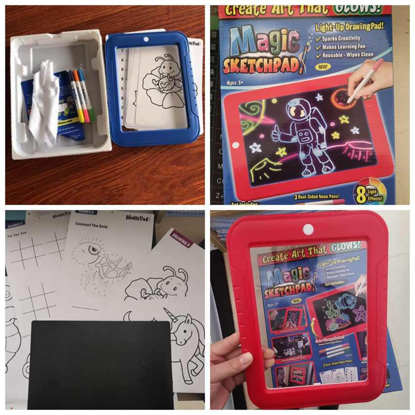 Magic PAD CREATE Drawing Lights Painting Graffiti Doodle Children Board Pad UK