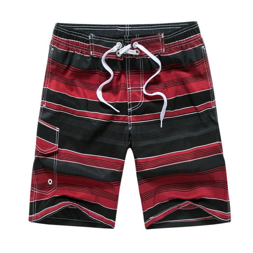 Plus Size Swimwear Homens Swim Shorts Calção 2018 Verão Swimsuit Man desgaste da praia Bermudas listrado Swimshorts 5XL 6XL T200612