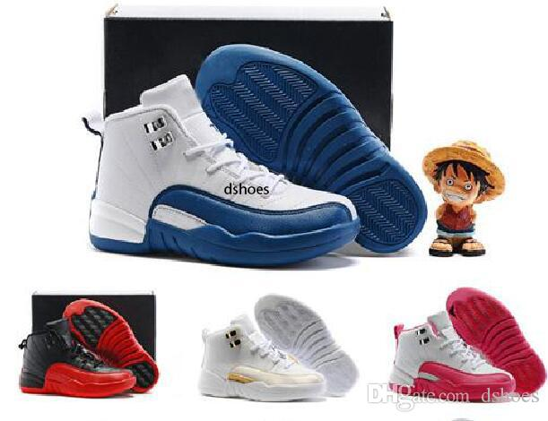 12 Kids Basketball Shoes Youth Children's Athletic 12 Sports Shoes for Boy Girls Shoes Free Shipping size:28-35