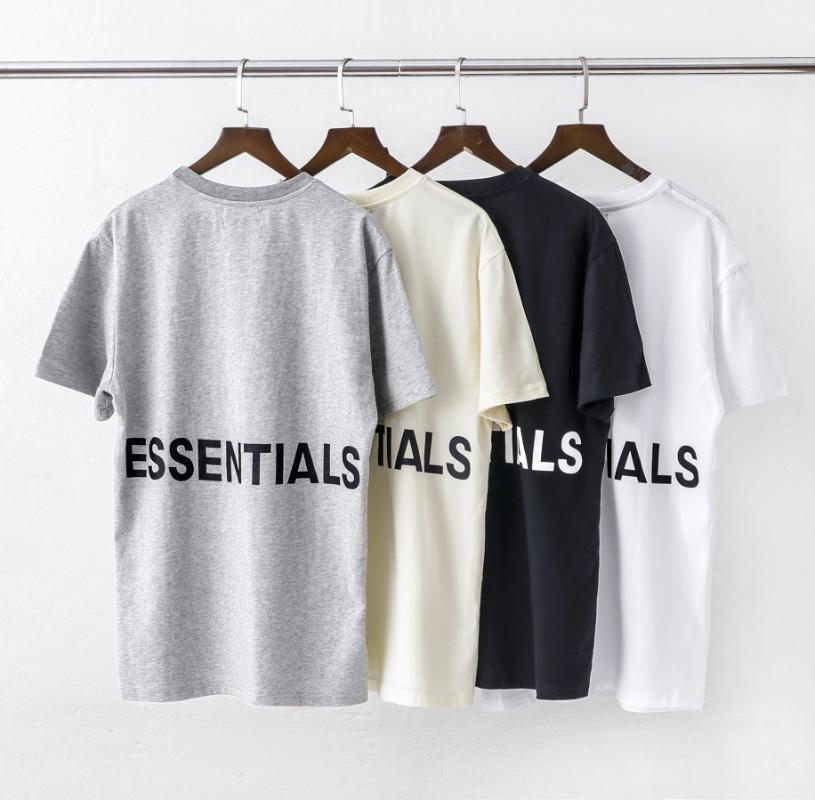 Hip Hop Nevoeiro via dupla base Shirt Essentials Impresso por letras camiseta de manga curta Moda de Nova
