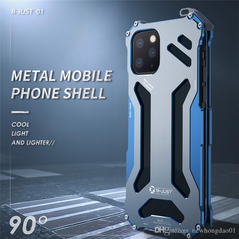 R-JUST Aluminum Cases for IPhone 11 pro Max CNC Armor Shell Metal protection phone cover