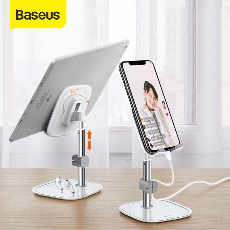 Cheap s & Stands Baseus Telescopic Desktop Phone Holder For Tablet Pad Desktop Holder Stand For Cell Phone Table Holder Mobile