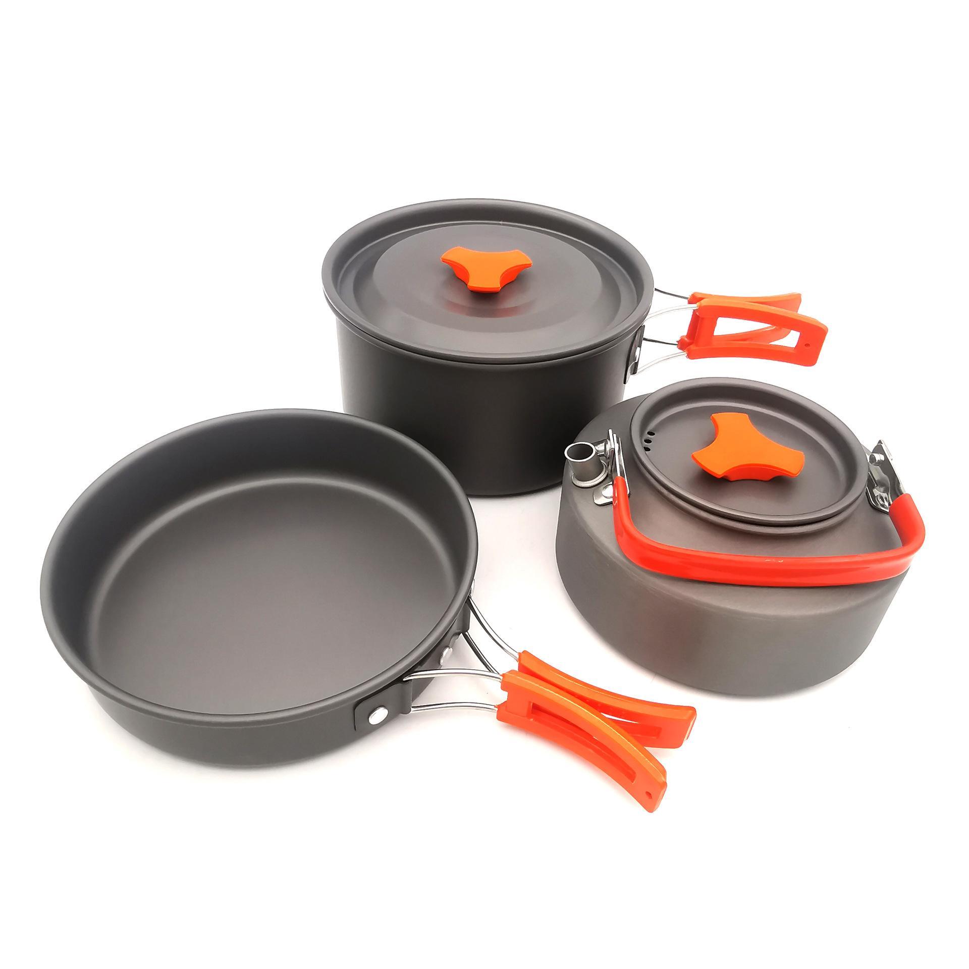Extérieur Ustensiles Théiere Set 2-3 personnes Batterie de cuisine avec le thé Pot Cooker Set trois pièces