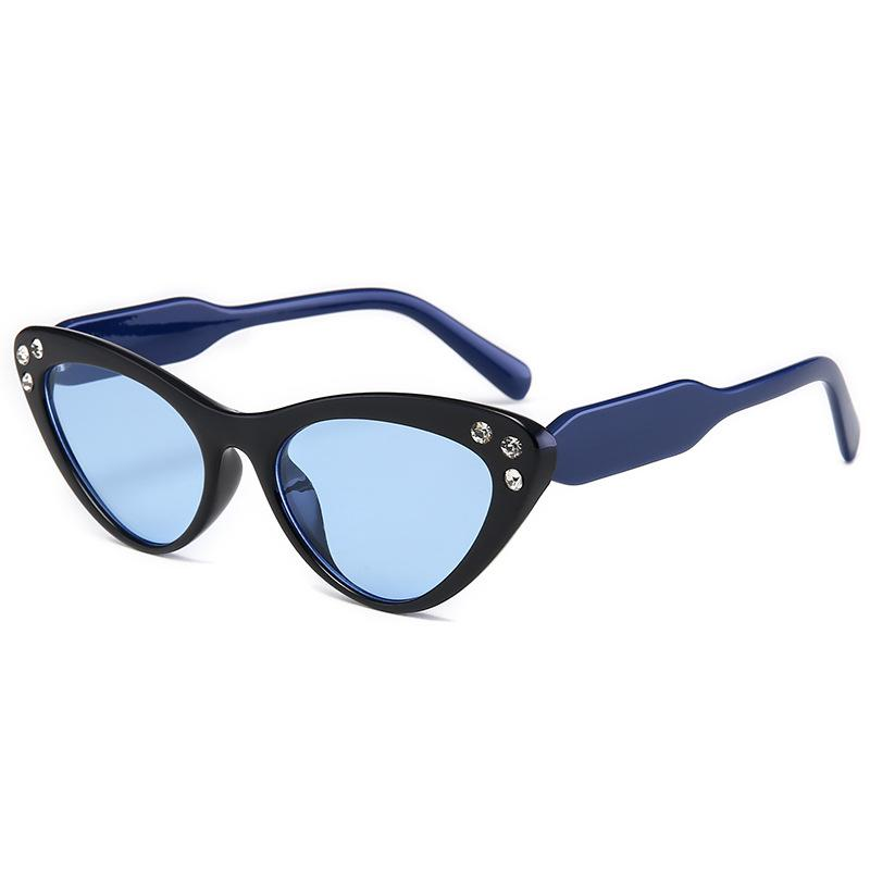 2020 여성 섹시한 선글라스 검은 삼각형 프레임 숙녀 브랜드 디자이너 태양 안경 빈티지 안경 그늘 UV400 루네트 드 솔레일
