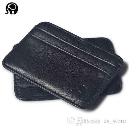 Herren Brieftasche Visitenkartenhalter Bankkartenhalter Leder Schaffell Paket Bus Kartenhalter Schlank Leder Multi-Card-Bit Pack Taschen