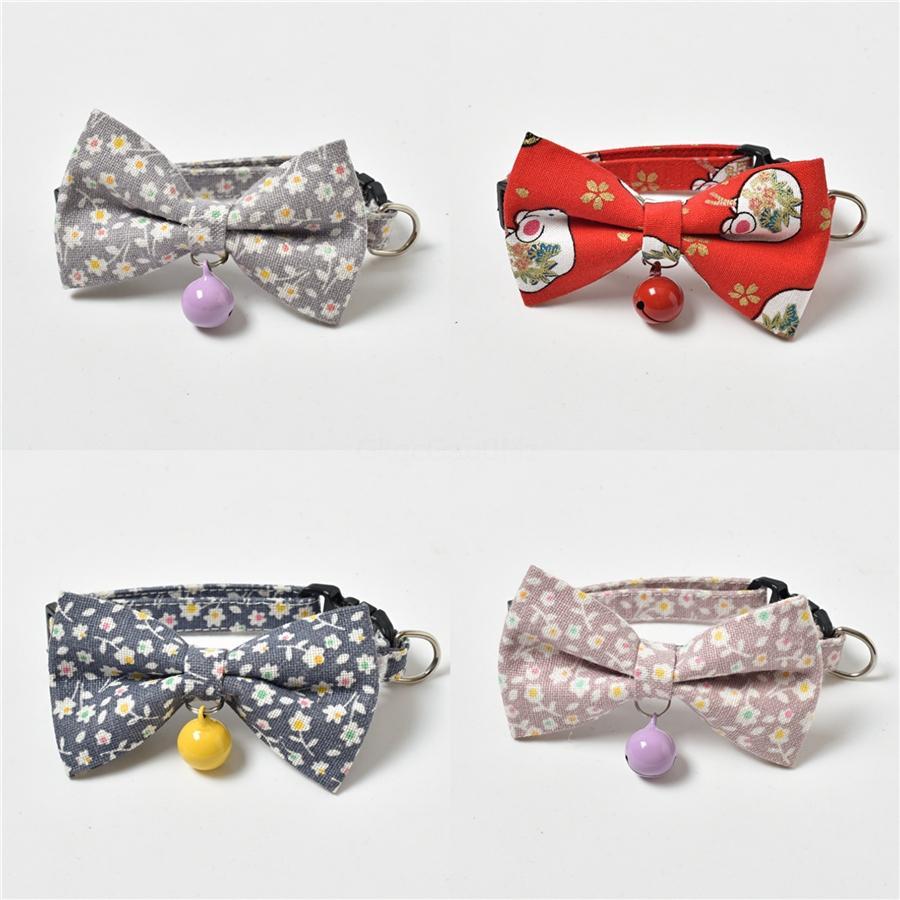 Animaux adorables colliers pour chiens Resto Vintage Plaid imprimé floral Cat Bow Tie style britannique Pet cravate 35cm 4 71Zz E1 # 132