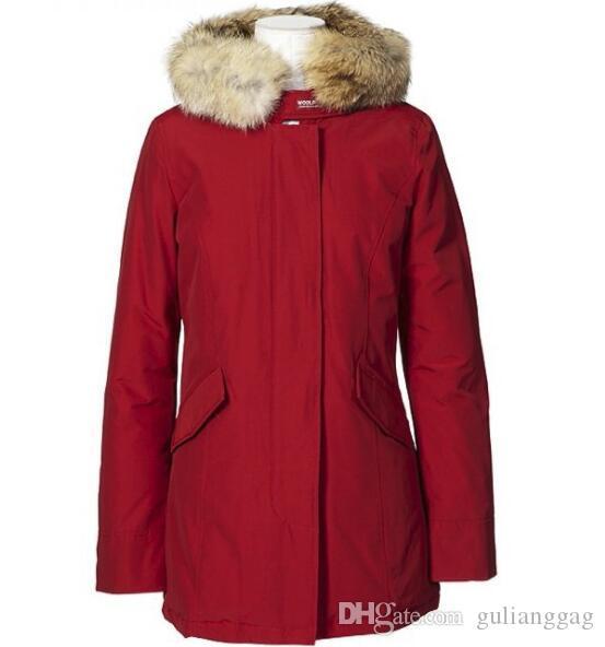 новые горячие женщины теплое пальто вниз гусь женщин Теплое пальто Открытый Parka