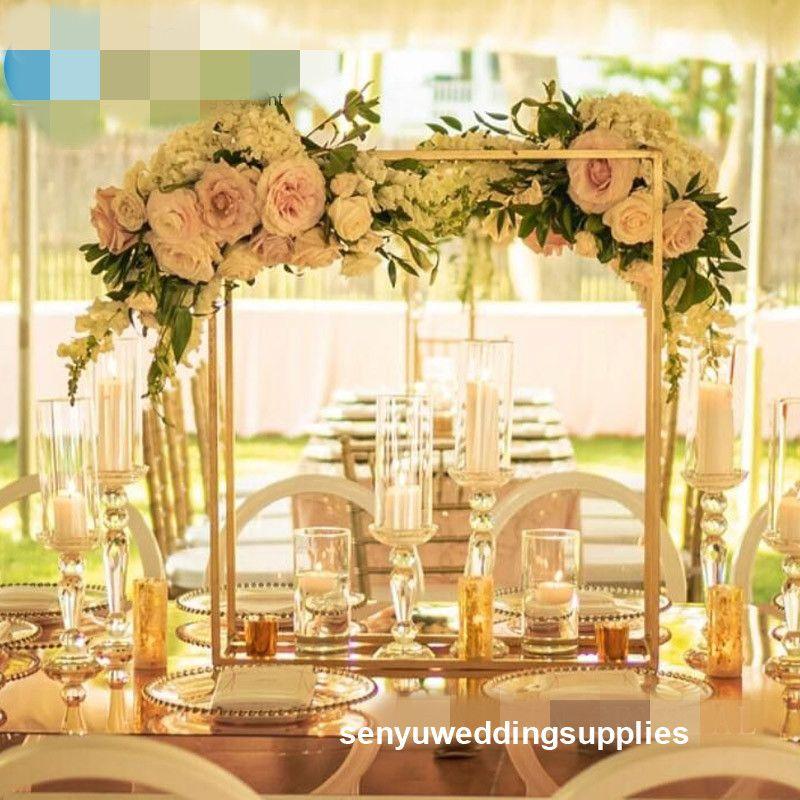 New painted Golden colour big wedding Candelabra For Banquets Luxury Wedding Decoration For Wedding sen yu Store 0462