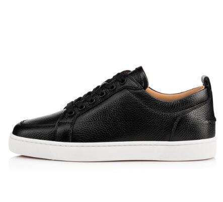 Высокое качество бренды новый белый, черный кожа Rantulow Повседневная обувь мужчины, женщины плоский роскошный низкий топ красный низ кроссовки с коробкой l14