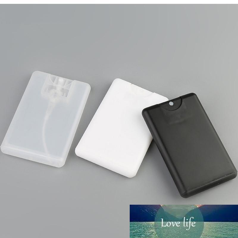 Leeren Karten aus Kunststoff Sprayer Parfümflaschen klar, weiß Schwarz 20ml bewegliche Taschen-Spray Parfümzerstäuber Behälter 50pcs