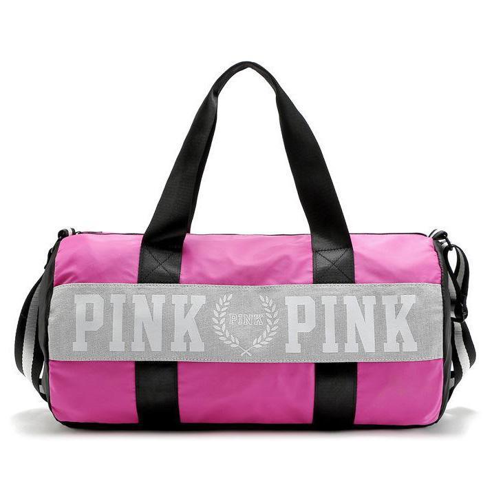 Женские сумки розовые буквы большой емкости для путешествий Duffle полосатый водонепроницаемый пляжная сумка сумка бесплатная доставка