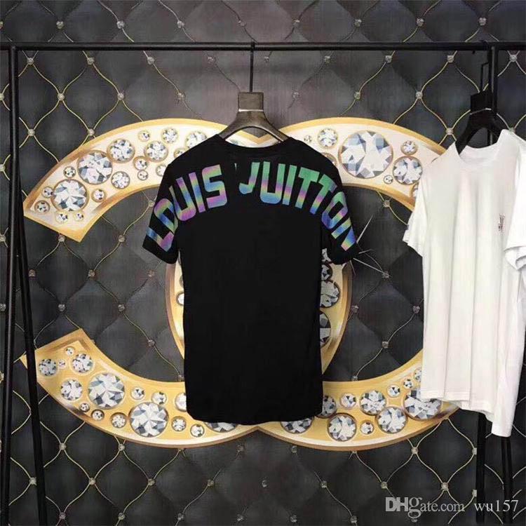 2020 camisetas de la moda para los hombres de algodón para hombre Ropa camiseta de cuello redondo multimillonario hombre Tops de verano de manga corta negro Blanco letra camisa de te