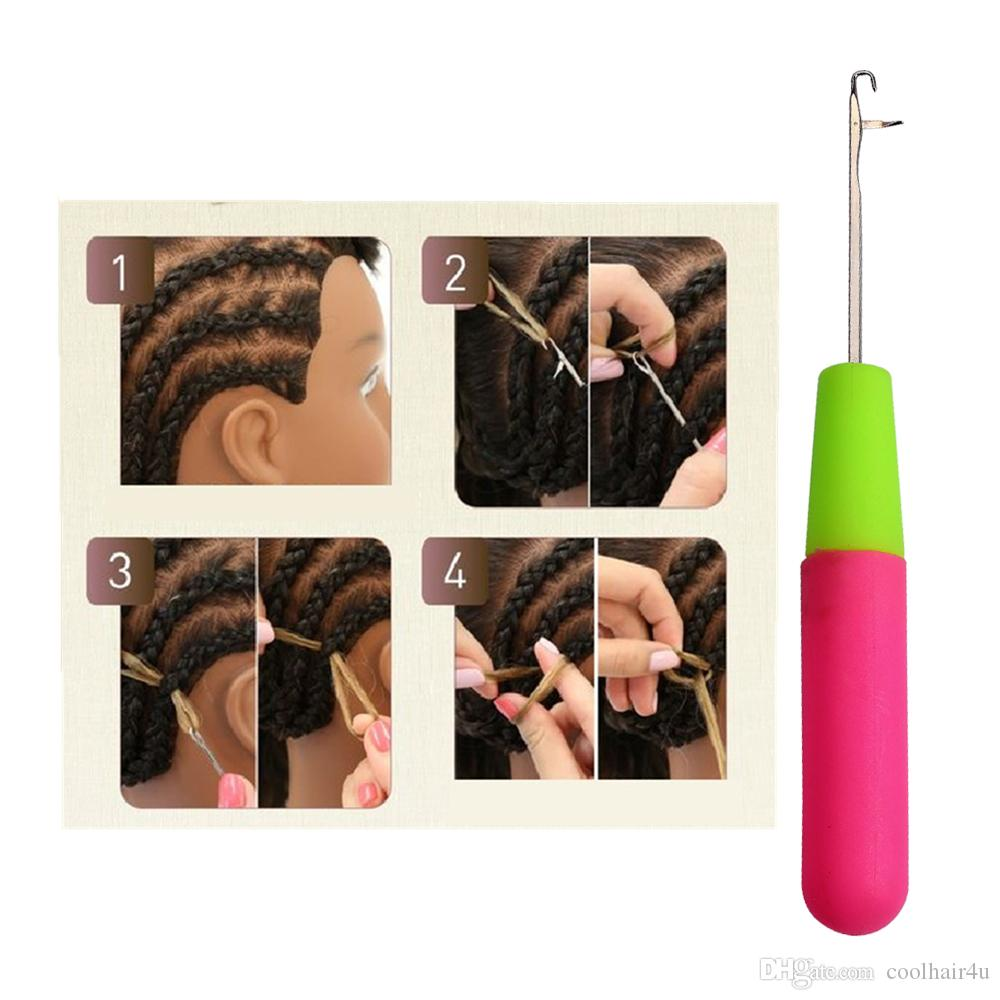 3 Pieces/lot Plastic Latch Crochet Hook Needle Dreadlock Craft Dread Lock Hair Extension For Synthetic Hair Wig