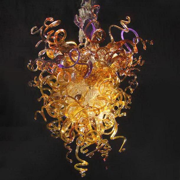 قلادة الذهب الحديثة كريستال الثريا ضوء زجاج مورانو غرفة فاخرة الطعام التعليق الديكور المنزلي LED هانغ مصباح الإضاءة لاعبا اساسيا