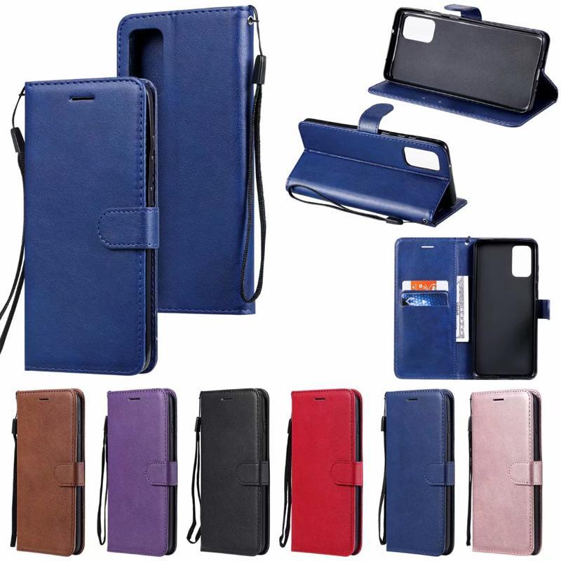 WalletCard cuero ranura Identificación magnética de la PU del tirón de la cubierta del caso para Iphone 11 Pro XS máximo MAX XR 6 7 8 más S20 S20 Ultra PLUS PLUS S10 A51 A71 Nota 10