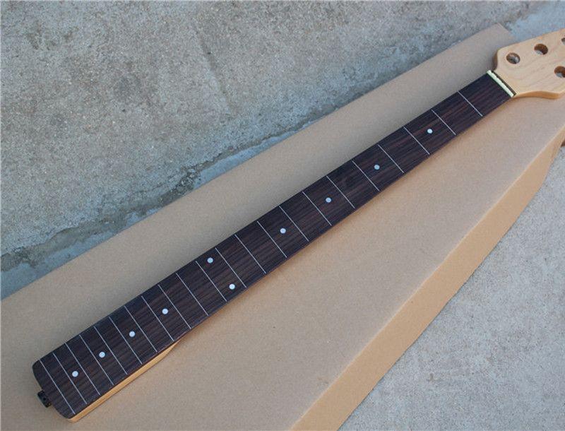 الكتريك جيتار الرقبة مع روزوود الأصابع، 22 الحنق، نقطة بيضاء علامات الحنق البطانة شبه المصنعة، يمكن أن يكون حسب الطلب