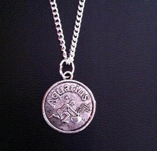 Yıldız Burç 12 Constellation NecklacePendant Gerdanlık Kolye Kadınlar Için Bildirimi Uzun Zincir Kolye bijoux Femme Hediye Takı