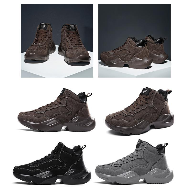 los hombres superiores de la plataforma de las mujeres zapatos al aire libre de triple tamaño gris negro marrón mantener el calor cómodo diseñador entrenador zapatillas de deporte 39-44