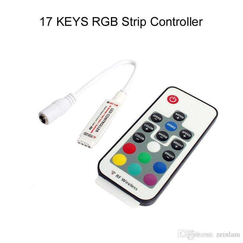 RGB LED قطاع DC 5- 12V 17 مفاتيح IR عن بعد RGB LED تحكم 3528 5050 مصلحة الارصاد الجوية بقيادة قطاع الأنوار