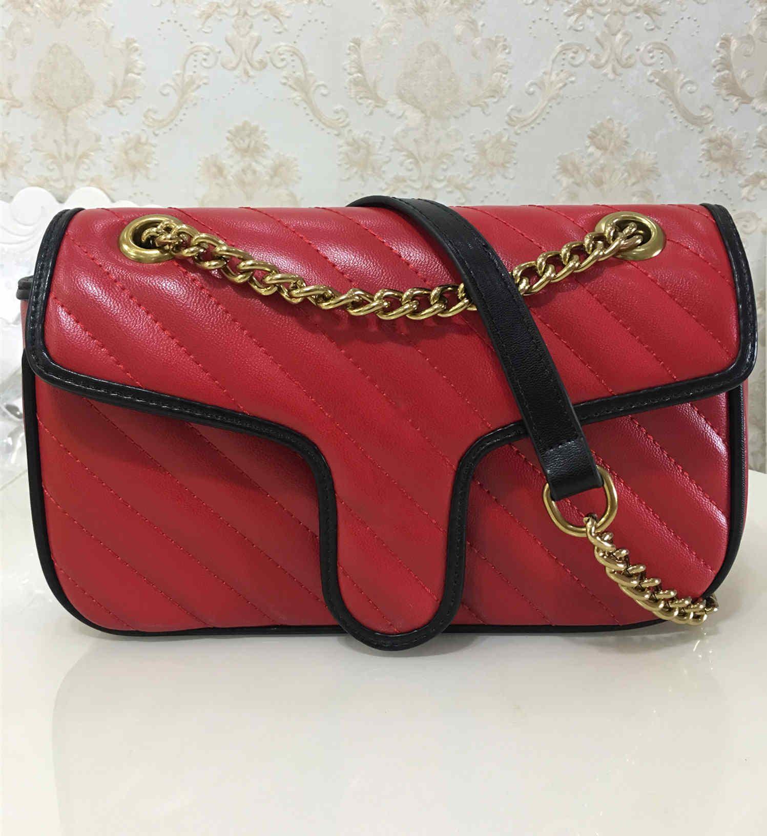 Neue Art-Frauen-Schulter-Beutel Goldkette Umhängetasche PU-Leder-Handtaschen-Geldbeutel weiblichen Messenger-Taschen-Tasche Wallet 443497