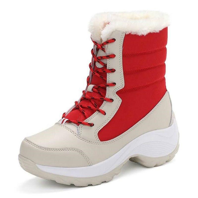 Women Boots Winter Shoes Women Snow Boots Women Plus Size Hot Platform Boots Winter Female Warm Botas Mujer 2019 White Booties
