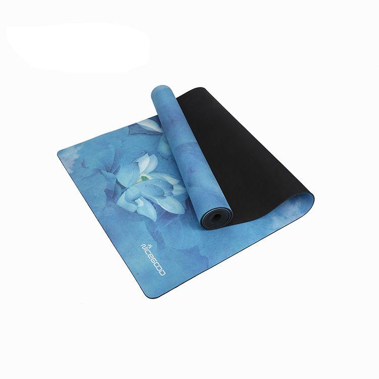 2019 New Yoga Mat Non-slip Professional Men And Women Fitness Mat Printing Beginner Natural Rubber Environmental Tasteless Hot Aales