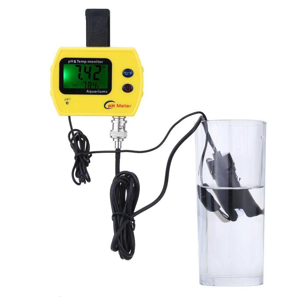 Online Ph Meter Für Aquarium Acidimeter Wasserqualität Analyzer Ph temp Meter Messen Haushalt Trinklösung T8190619
