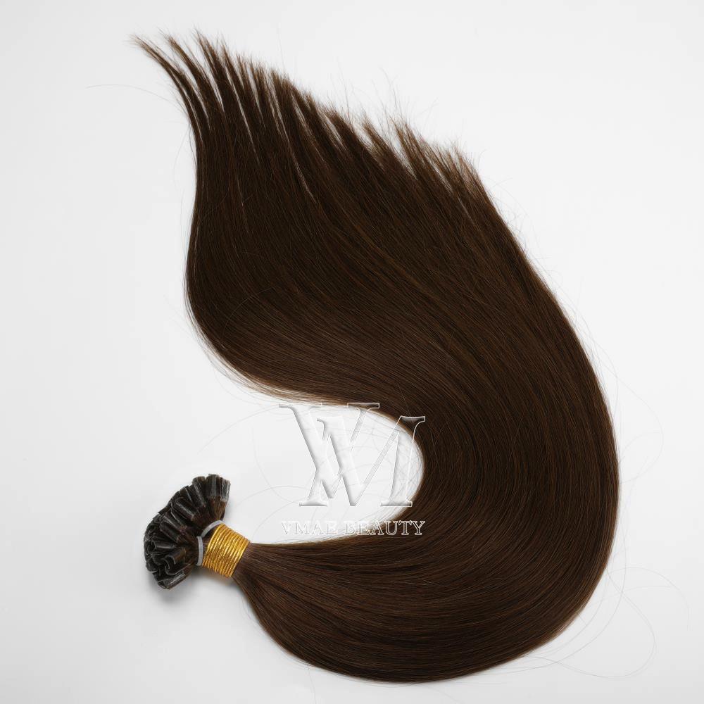 VMAE Avrupa Sarışın Kahverengi Doğal Siyah 1g Strand 100g Ön Gümrük Keratin Çubuk Virgin Remy Düz ben İpucu İnsan Saç Uzantıları