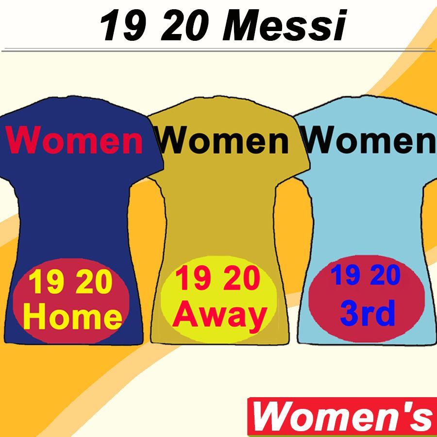 19 20 barcelona MESSI GRIEZMANN Jerseys de fútbol para mujer SUAREZ PIQUE A. INIESTA Local Azul Visitante Amarillo Fútbol Camisetas RAKITIC RAFINHA Short Lady Uniformes