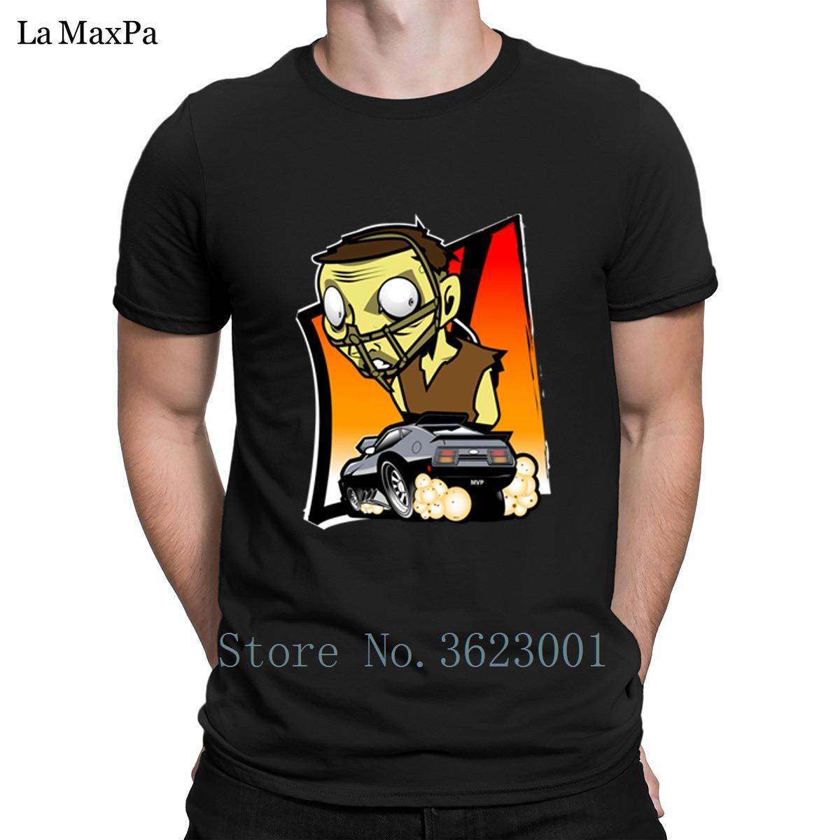 Moda T estándar clásico para hombres Cop Mad luz del sol a bordo de la camiseta Hombre populares calificados camiseta de cuello redondo camisa floja