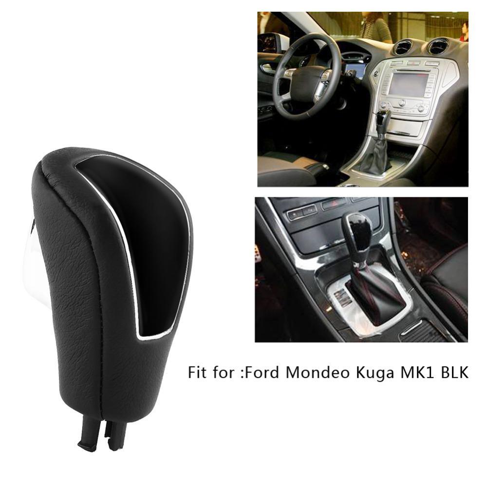 Freeshiping Car Gear Shift Knob Head Palanca de cambio automático Manija Gear Shift Knob Stick Head For Ford Mondeo Kuga MK1 BLK Car-Styling