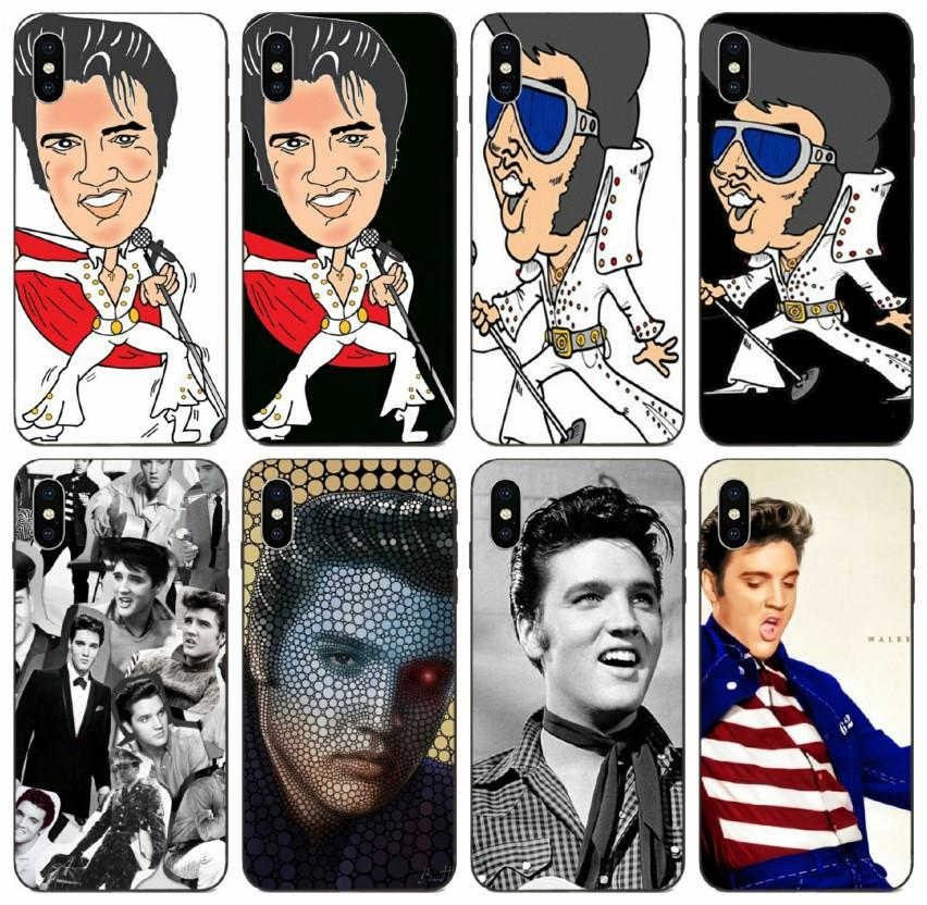 iPhone [TongTrade] Homens Elvis Presley capa para a Apple 11 Pro Max Xs 8s 7s 6s Galaxy S8 S9 S10 Além disso Huawei P20 Caso 1Pcs P30 Motorola Moto G5