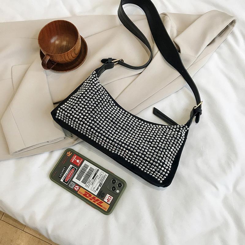 Trend мода сумка прилив сверло сумка 2020 корейский джокер темпераментный плечо короля флэш-память горный хрусталь подмышки новые женские дамы pwjux