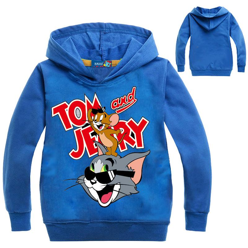Boys Girls Tom and Jerry Kids Spring Fall T-shirt Long Sleeve Casual Costumes