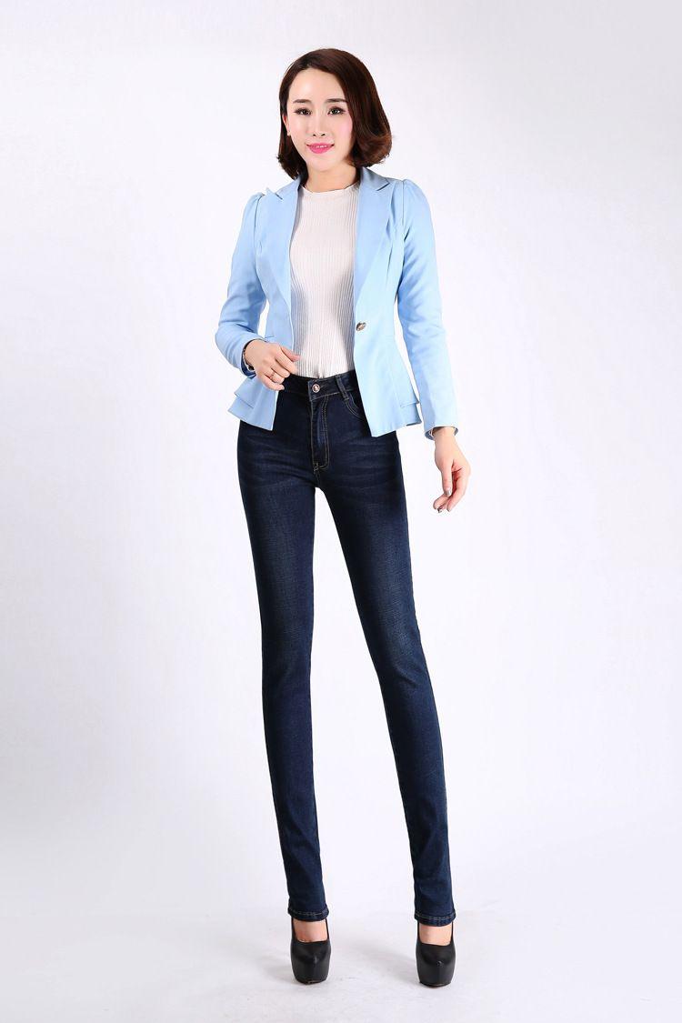 Jbersee Mulheres cintura alta Plus Size Outono Inverno Denim calças stretch Mulher marca de jeans feminina Calças YZ2030 Y200417