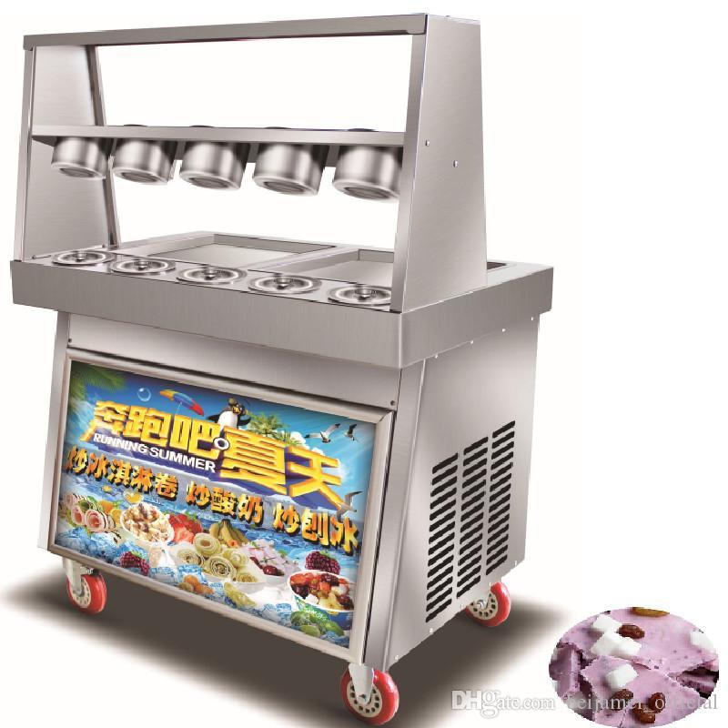 BEIJAMEI Tailandia estilo frito / rodillo de la máquina de alevines helado con mesa plana para frito comercial de helados