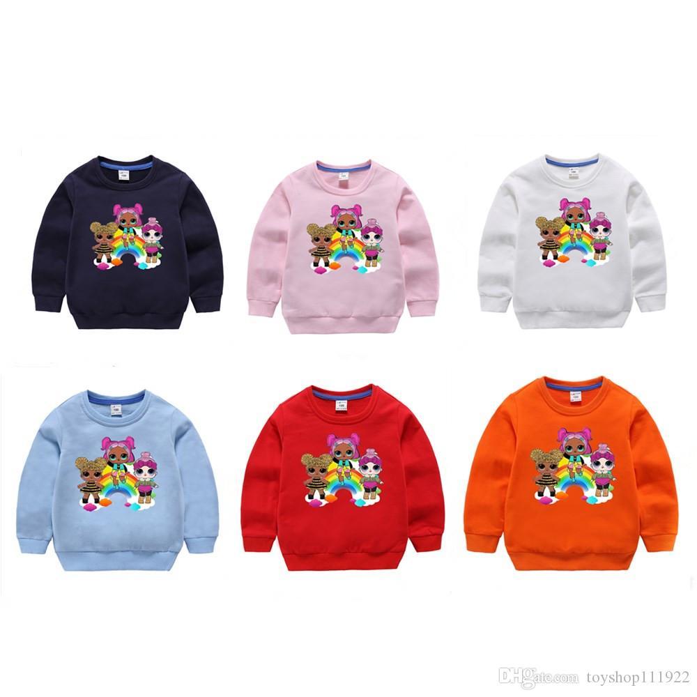 11style Karikatur-Puppe-Mädchen-Jungen Hoodies Herbst Frühling Kinder Langarm-Sweatshirts Kinder Outwear Pullover Top Kleidung DHL frei
