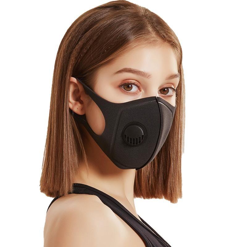 2020 Visage de protection Masque anti PM2,5 pollution bouche Masque anti-poussière 5 Filtre couche Masque réutilisable Masques unisexes réutilisables