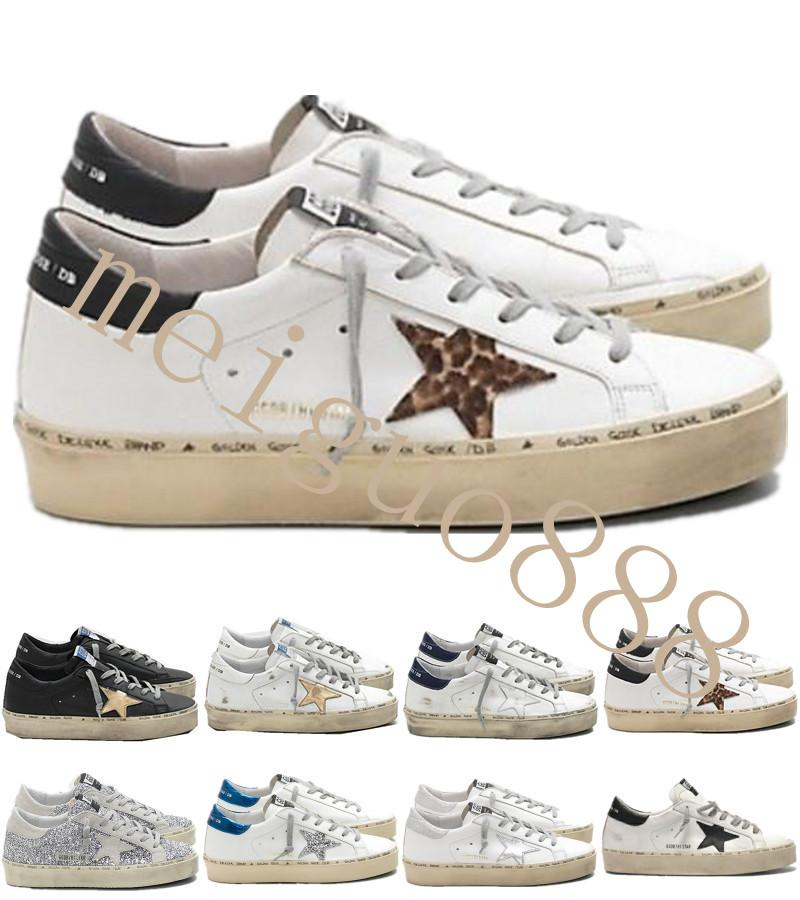 Italy Brand Multicolor Heel Golden Superstar Gooses Designer Sneakers Men Women Classic White Do-old Dirty Shoes Hi Star Shoes Size 35-45 #3