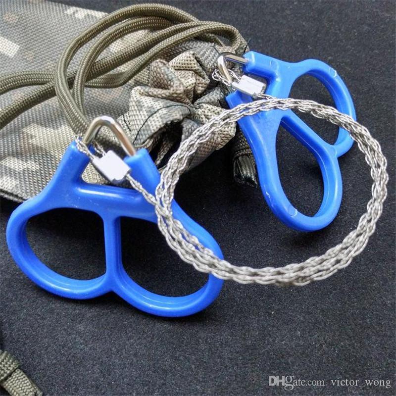 Filo portatile Sega anello d'acciaio di barretta del doppio legare ha veduto Scroll Saw emergenza caccia esterna d'escursione di campeggio di sopravvivenza di salvataggio